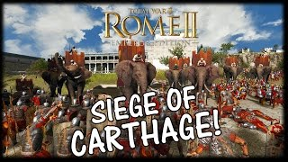 SIEGE OF CARTHAGE! Carthage v Rome - Total War Rome 2 Gameplay (Massive Battle)
