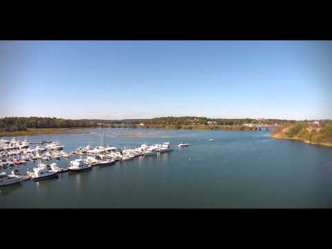Drone Video:  Flood Tide (Cut Bridge and Annisquam River)