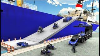Us police car Transporter: Police Transport Game Brilliant Gamez Gameplay screenshot 2