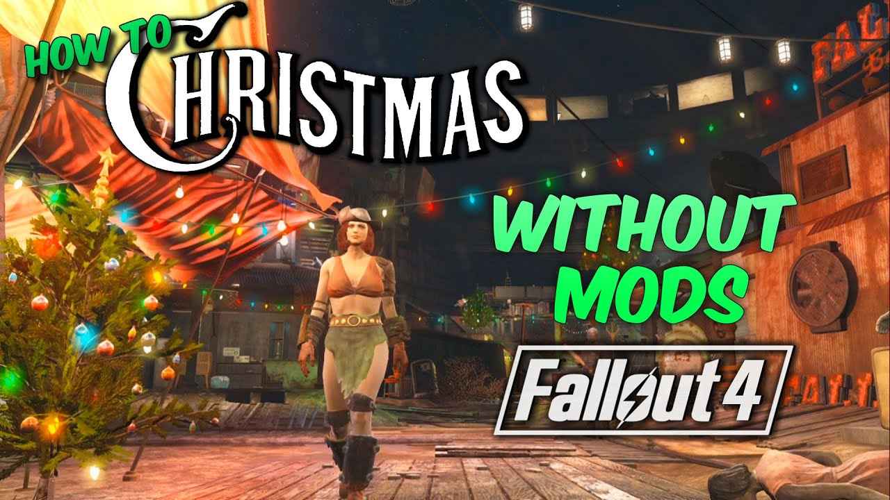 How to Get CHRISTMAS in FALLOUT 4 without MODS | SECRET - YouTube
