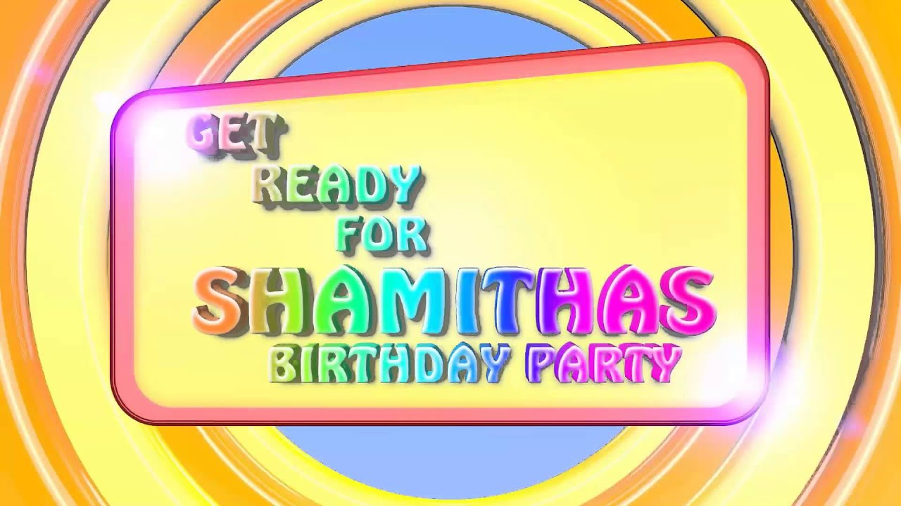 Shamithas birthday party reminder youtube shamithas birthday party reminder stopboris Image collections