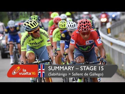 Summary - Stage 15 (Sabiñánigo / Sallent de Gállego. Aramón Formigal) - La Vuelta a España 2016