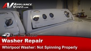 washer diagnostic repair not spinning properly whirlpool maytag kenmore