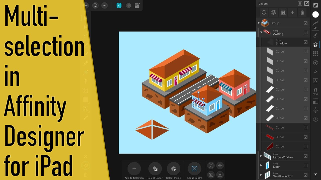How to Select Multiple Objects in Affinity Designer for iPad