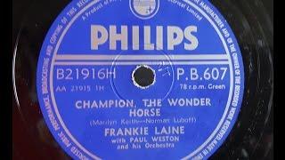 Frankie Laine 'Champion, The Wonder Horse' 1956 78 rpm