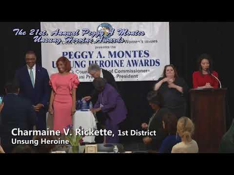 2018 Unsung Heroine Awards Winner Charmaine V. Rickette 1st. District