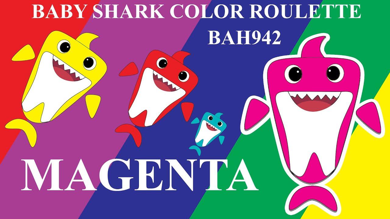 BABY SHARK COLOR ROULETTE - MAGENTA BABY SHARK - YouTube