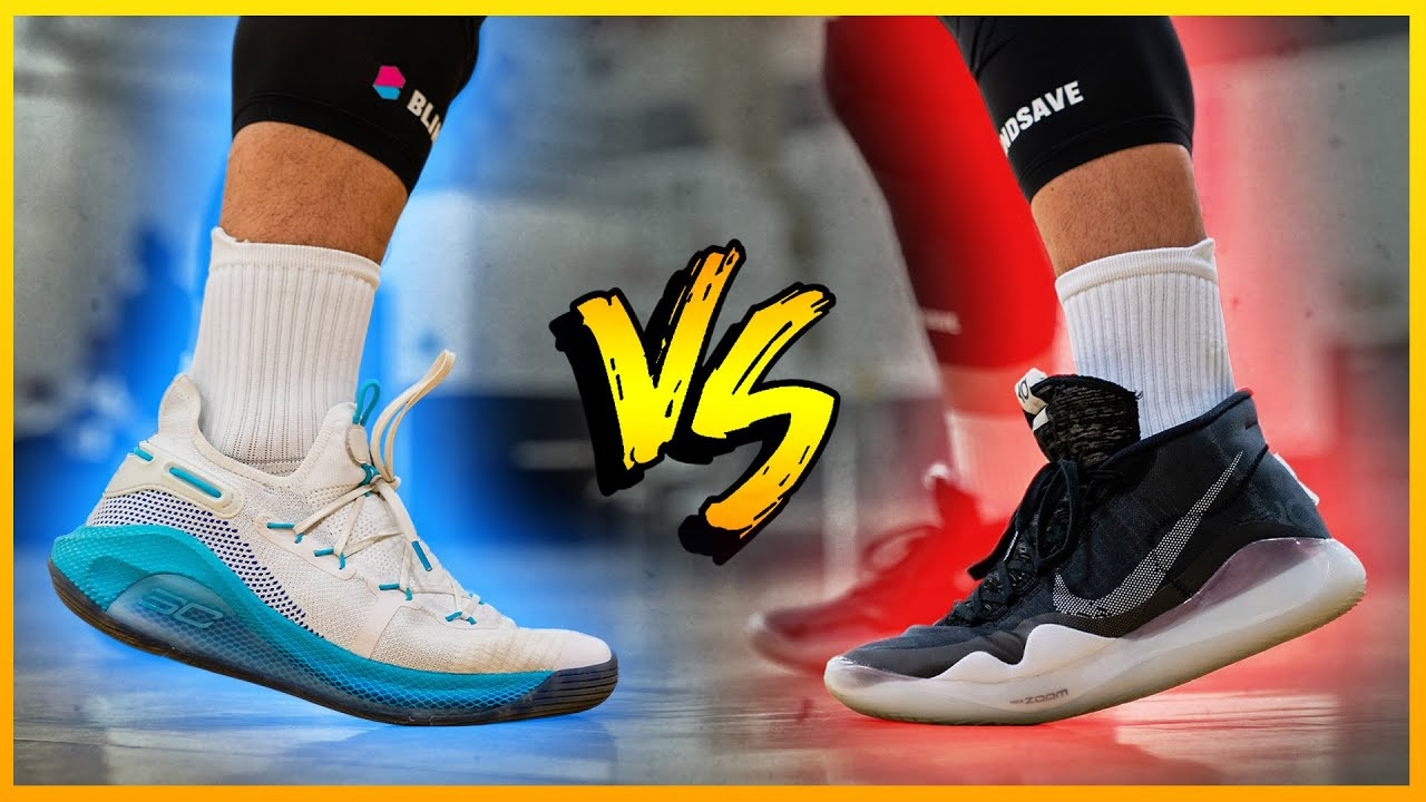 Nike KD 12 vs. Under Armour Curry 6