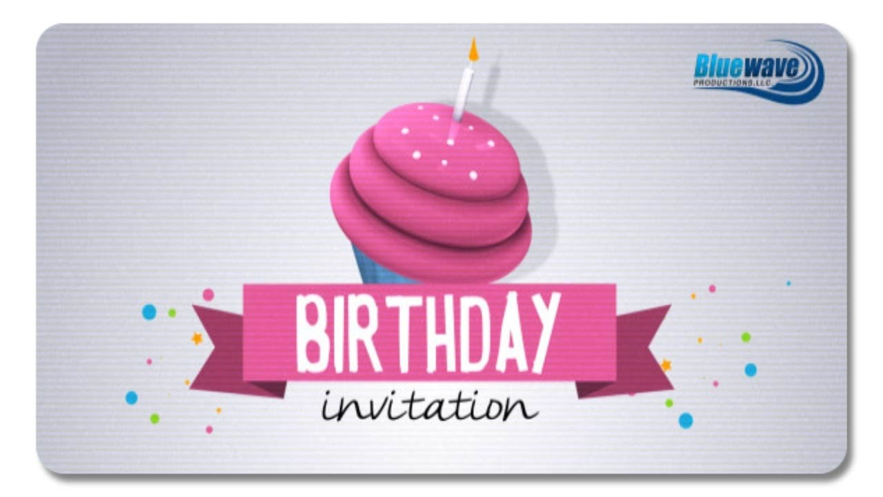 after effects birthday invitation templates free download