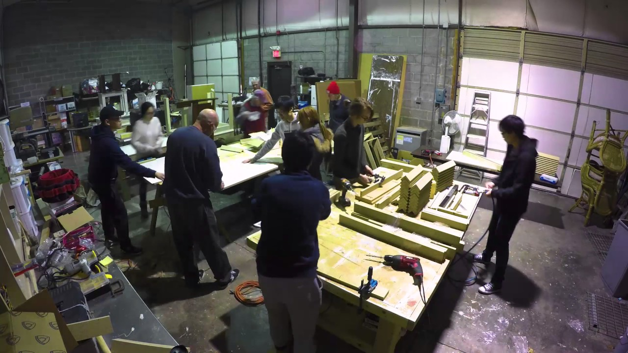 Table Building At New Life Furniture Bank