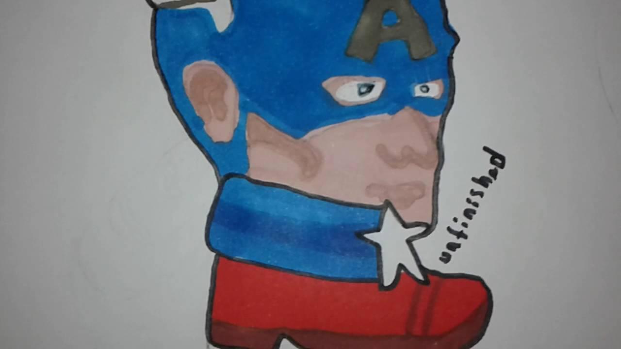 Captain America Boyama Bitti Youtube