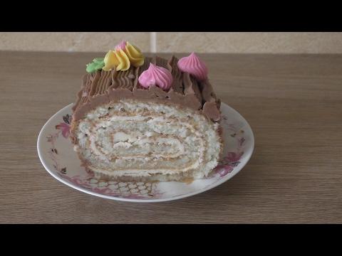 как приготовить торт рулетик