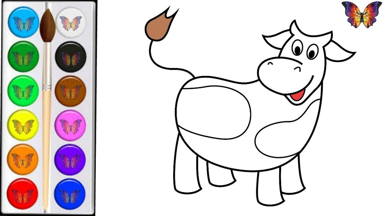 Раскраска для детей КОРОВА . Мультик - Раскраска КОРОВА ...