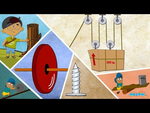 Pulley, Wheel, Lever and More Simple Machines - Science for Kids | Educational Videos by Mocomi
