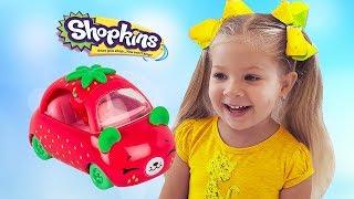 Игрушки Шопкинс спрятались от Дианы, ищем Сюрпризы и строим Домик для Shopkins!