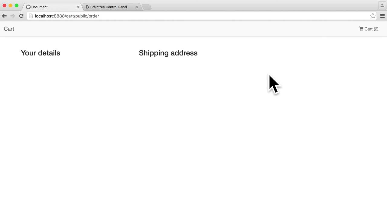 Build A Shopping Cart with PHP: Order form (10/15)