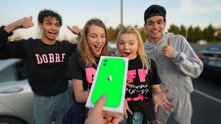 Download Giving Strangers an iPhone 11 If They Can Answer THIS Question Mp3 and Videos