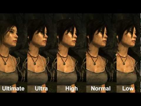 Tomb Raider 2013 PC Graphics Comparison [Ultimate-Very High-High-Normal-Low]