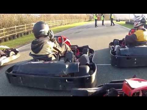 Q leisue karting A final, Nick watling dirty driving! then a blow out