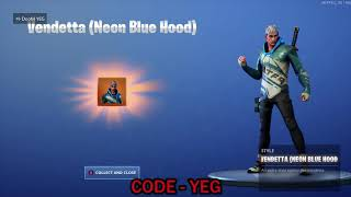 UNLOCKING *NEW* TIER 100 VENDETTA (NEON BLUE HOOD) Outfit on Fortnite Battle Royale Season 9