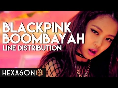 BLACKPINK - BOOMBAYAH Line Distribution (Color Coded)