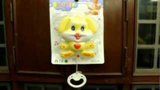 Infant Musical Toy To Hang On Cradle, Born Baby Rattle Toy - Smiley Rabbit Face.