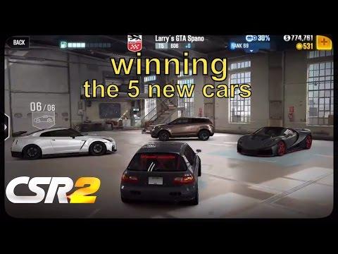 CSR Racing 2 - New update, winning the 5 new boss cars