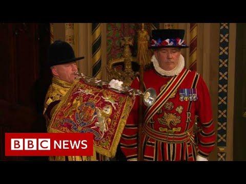 Queen's Speech: Fanfare Announces Start Of Procession - BBC News