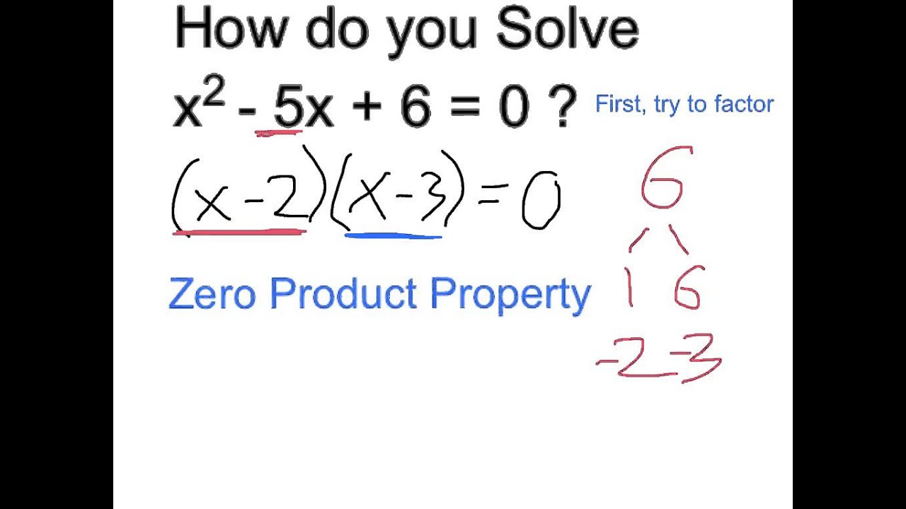 Solve X^2  5x + 6 = 0