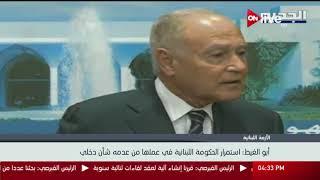 أبوالغيط: استمرار الحكومة اللبنانية في عملها من عدمه شأن داخلي