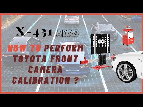 TOYOTA Front Camera Calibration with X-431 ADAS PRO Calibration Tool and X-431 Throttle