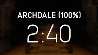 Minecraft Speedrun: Archdale 100% (00:02:40:967) [WR]