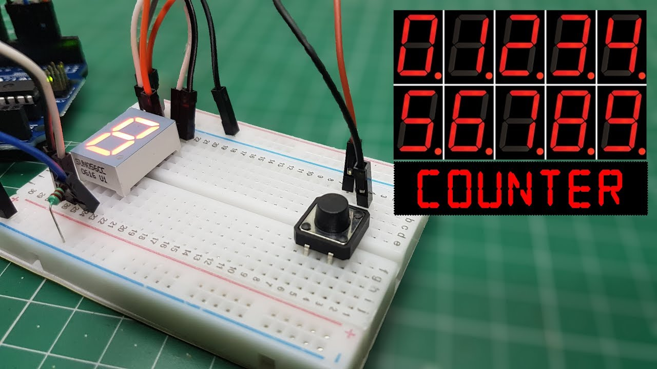 Arduino Seven Segment Display Counter