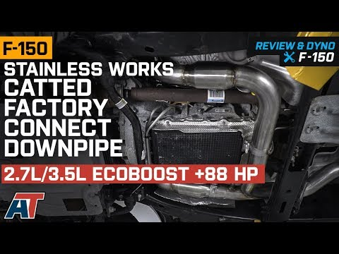 2015-2018 F150 Stainless Works Catted Factory Downpipe 2.7L/3.5L EcoBoost Review & Dyno