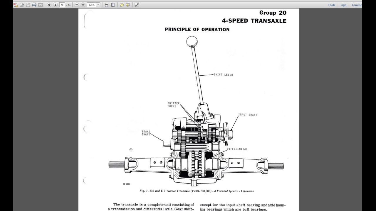 john deere 110 mower garden tractor 4 speed peerless 2300 reverse transaxle cutaway  [ 1280 x 720 Pixel ]