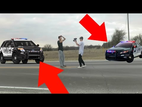 TANNER AND I ALMOST GOT HIT (COPS CAME)