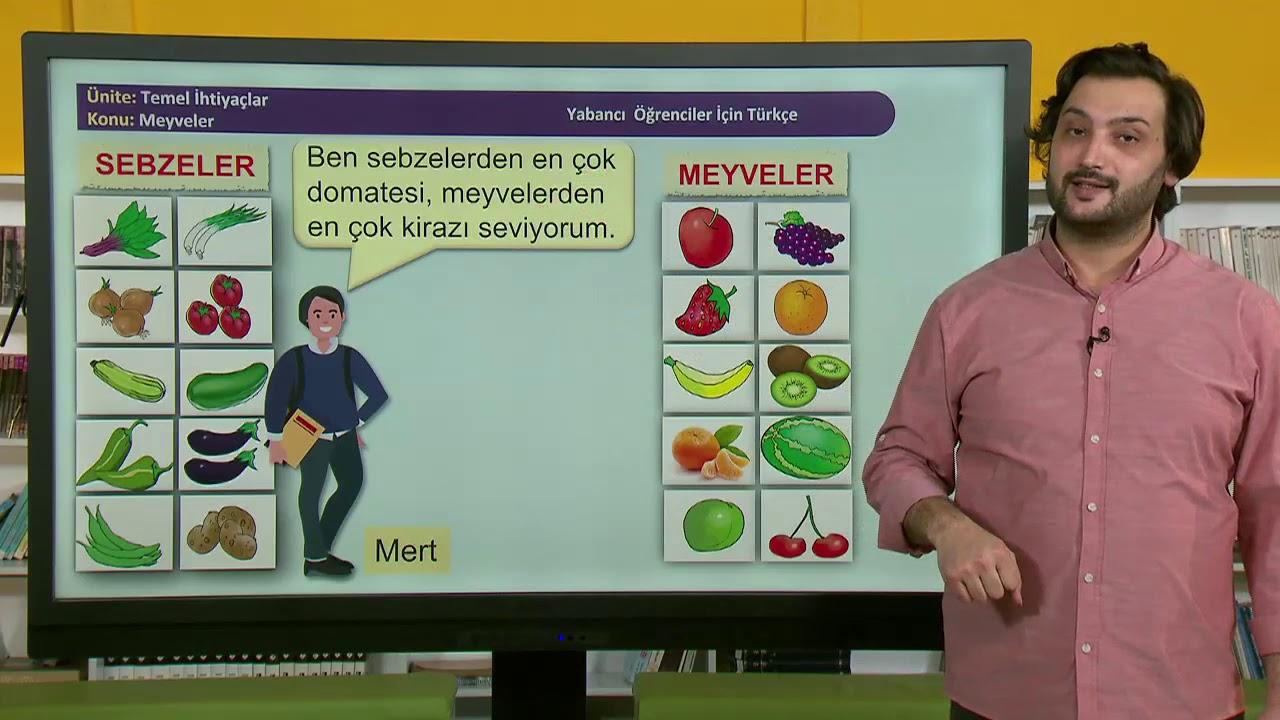 Yabancı Öğrenciler için Türkçe Ders Videoları – Lise 26. Ders: Meyveler, Kaç Kilo? Kaç Tane?