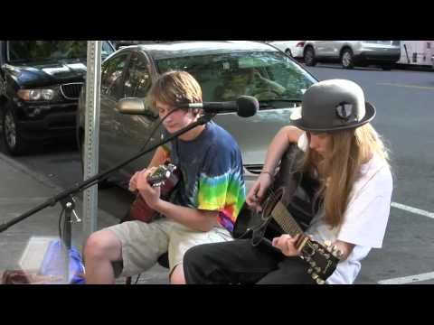 "Sawyer and Arthur Lee Fredericks Cover ""Man of Constant Sorrow"" in Saratoga Springs"