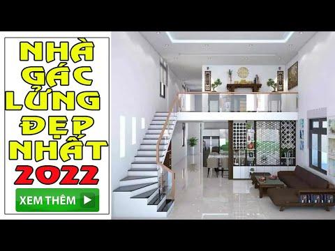 ✅ CHI TIẾT Mẫu Nhà Gác Lửng 2 Phòng Ngủ Được Yêu Thích Nhất 2020