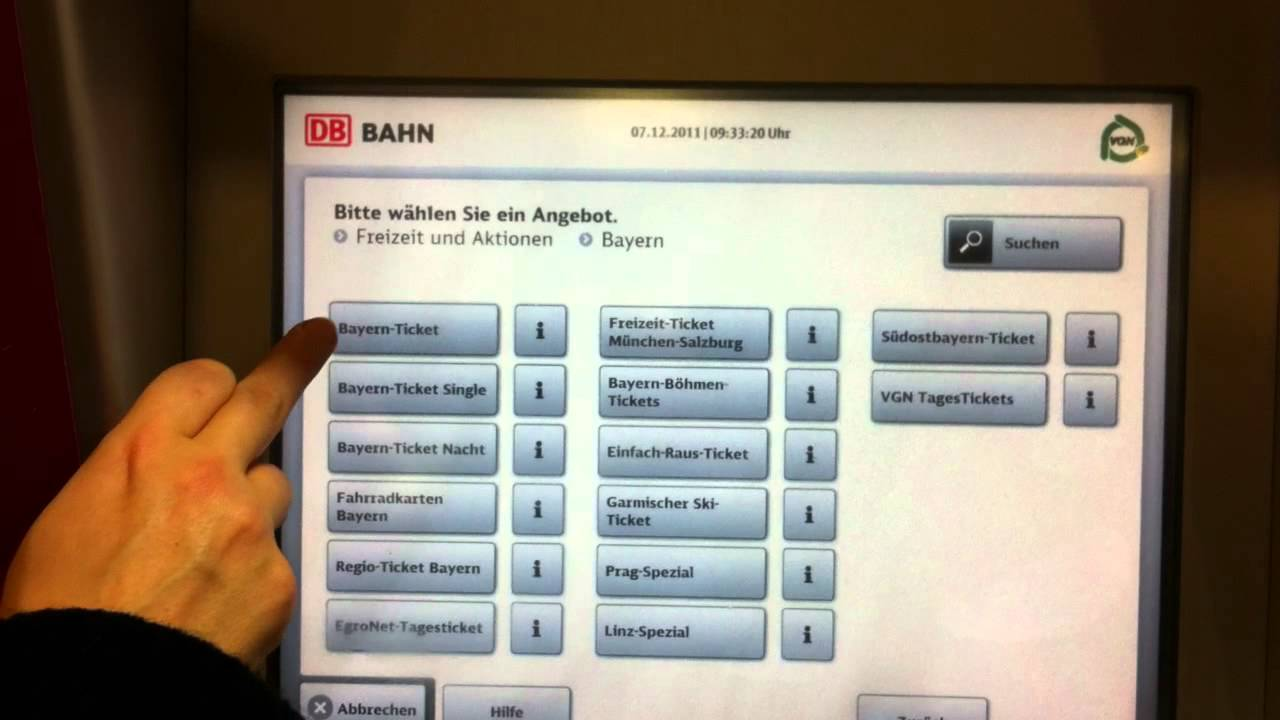 Bayernticket single online buchen