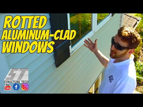 Rotted aluminum-clad windows