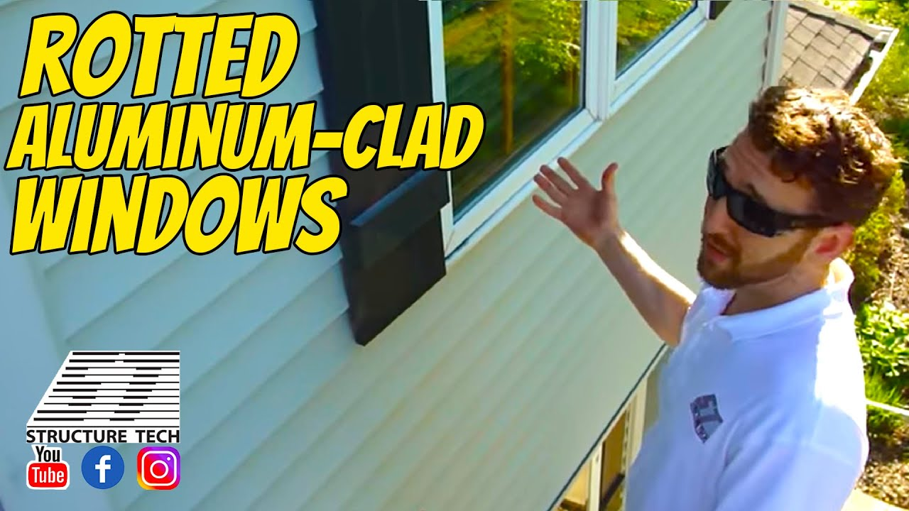 Rotted aluminum clad windows youtube for Window cladding