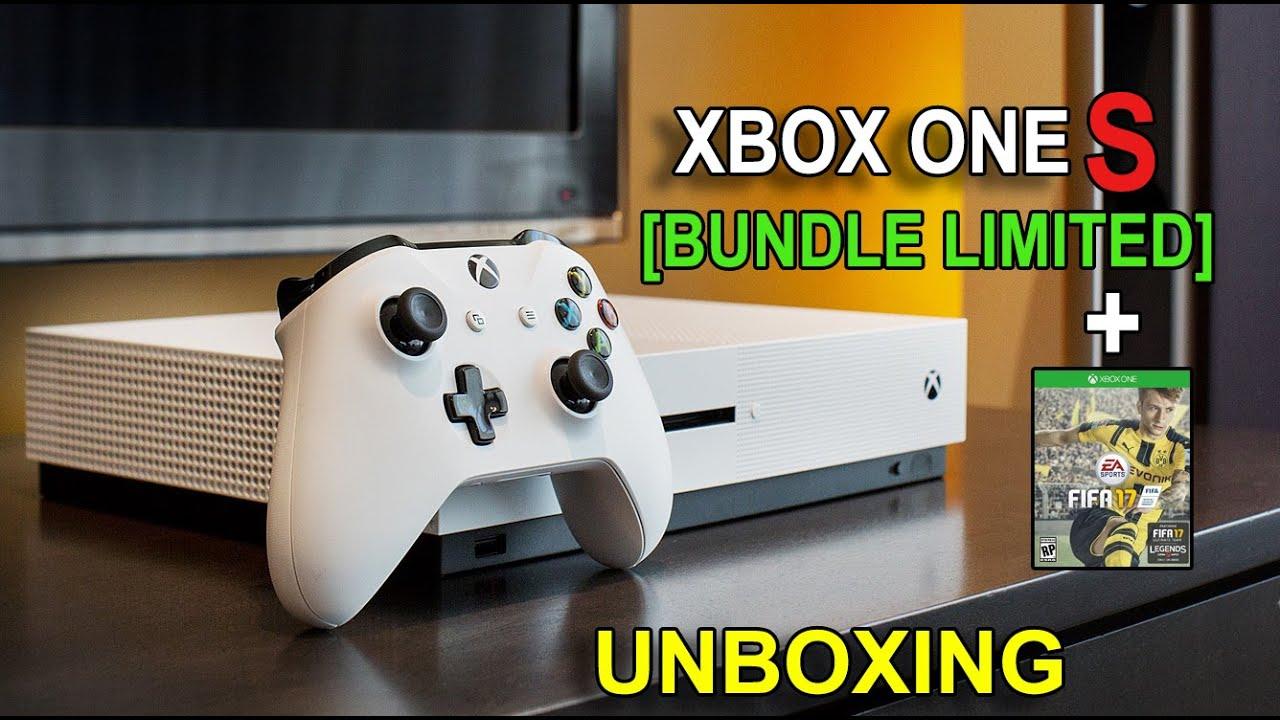 Unboxing Xbox One S 500GB Bundle FIFA 17 - YouTube