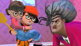 Scary Teacher 3D - Nick Protect Tani and Miss T With Spider Troll - BuzzStar Animation