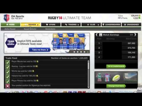 ea sports rugby 14 ultimate team youtube. Black Bedroom Furniture Sets. Home Design Ideas