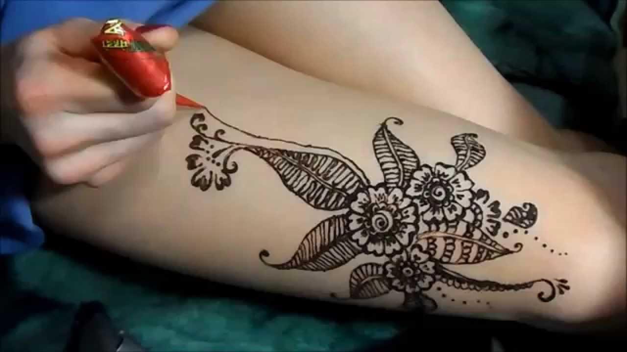 легкие тату мехенди на руке рисунки на руке хной для начинающих