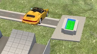 Beamng drive - Jumping in a Pool filled with Jello