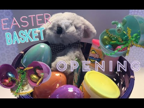 Opening An Easter Basket