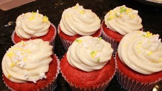 Quick And Easy Red Velvet Cupcakes With Cream Cheese Frosting