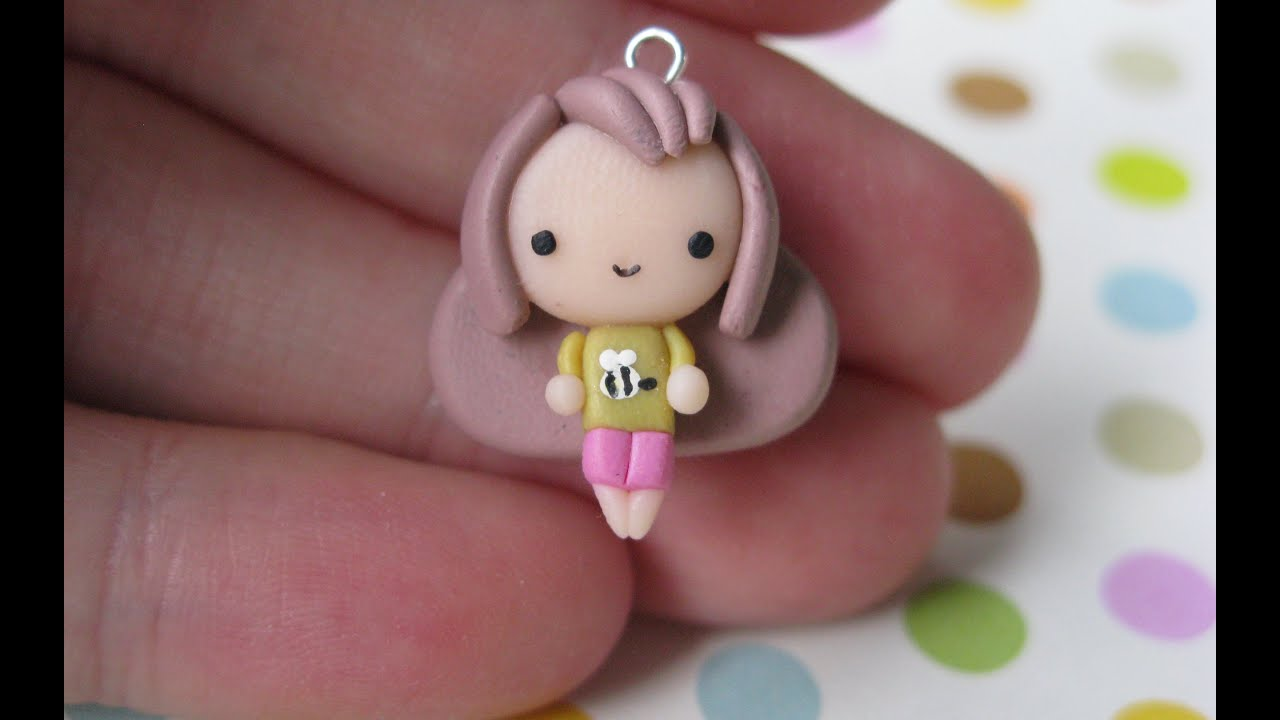 Bee chibi from bee and puppycat tutorial polymer clay youtube baditri Images